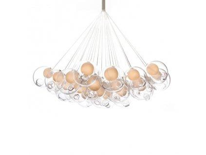 Lustr - lampa závěsná BUBBLE 19 stínidla sklo