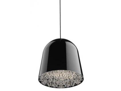 Lustr - lampa závěsná CANCUN černá/kov/syntetická látka