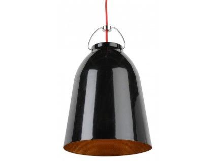 Lustr - lampa závěsná CLOCHE 25 hliník/černá-zlatá