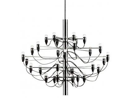 Lustr - lampa závěsná GINO 85 nikl/30 žárovky