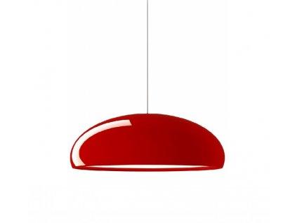 Lustr - LAMPA ZÁVĚSNÁ GLOW ČERVENÁ