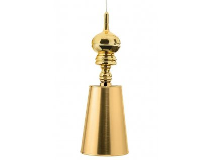 Lustr - lampa závěsná QUEEN 1 gold zlato/kov/syntetická látka/1 stínidlo