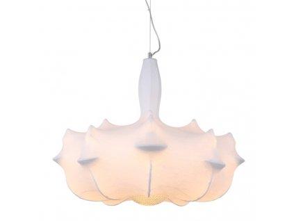 Lustr - lampa závěsná RAGNATELA 60 bílá/materiál kompozitní 60 cm