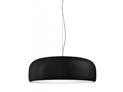 Lustr - lampa závěsná SMITH černá kov syntetická látka černá