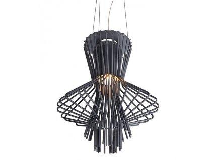 Lustr - lampa závěsná STRAW ocel uhlíková