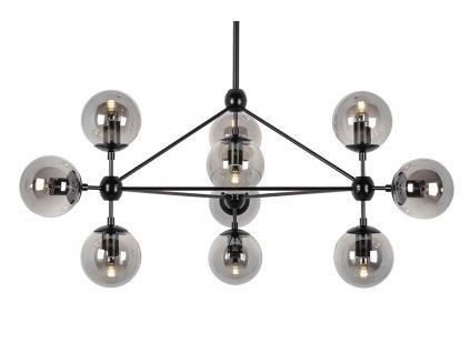 Lustr - lampa závěsná PLANETARIO 10 - kouřová stínidla