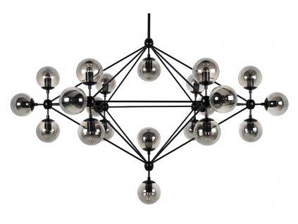 Lustr - lampa závěsná PLANETARIO 21 - kouřová stínidla