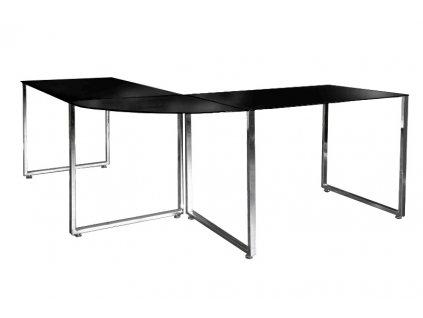 Psací stůl rohový LUMINO černý
