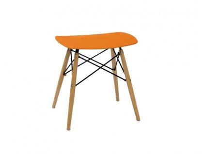 Stolička HANDY oranžová polypropylen/ buk