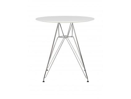 Stůl DSR * 70 - nohy kovové deska mdf bílý/kulatý