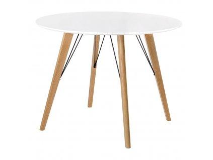 Stůl LARSON * 100 bílý mdf/nohy dubové