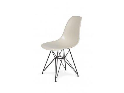 Židle 130-cas1 MIGDAL pralinková #29 abs + nohy kovové černá