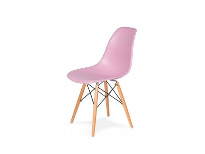 Židle 130-DPP pastelový roz #07 PP + nohy bukové