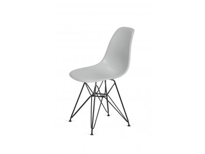 Židle 130-DPP platinová #28 abs + nohy kovové černá
