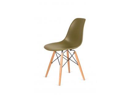 Židle 130-DPP zelený čaj #31 PP + nohy bukové