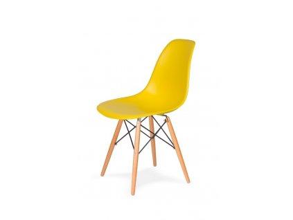 Židle 130-DPP žlutá sluneční #09 PP + nohy bukové