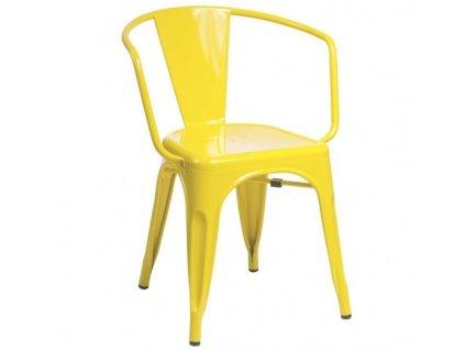 Židle TOWER ARM žlutá kov