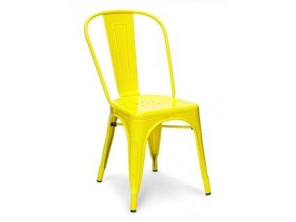 Židle TOWER žlutá kov