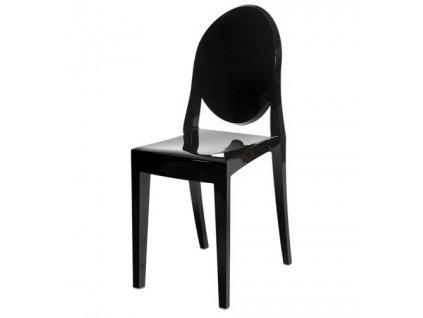 Židle VICTORIA černá lesk polykarbonát