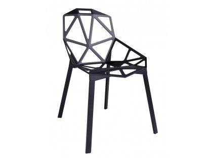 Židle SPLIT černá - hliník, nohy černé