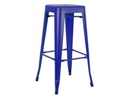 Barová židle TOWER 76cm c.modrý kov