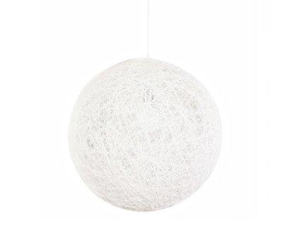 Lustr - lampa závěsná LUNA 110 bílá - konopný provázek