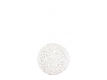 Lustr - lampa závěsná LUNA 40 bílá - konopný provázek