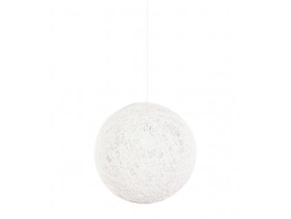 Lustr - lampa závěsná LUNA 60 bílá - konopný provázek