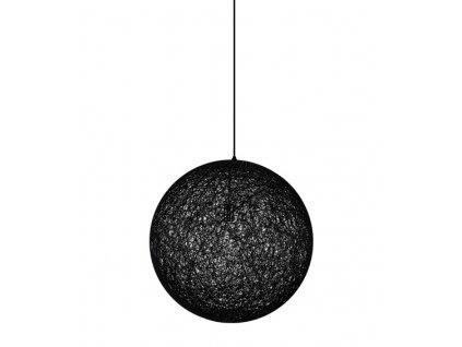Lustr - lampa závěsná LUNA 60 černá - konopný provázek