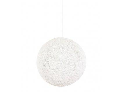 Lustr - lampa závěsná LUNA 80 bílá - konopný provázek
