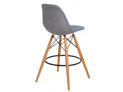 Barová židle P016V Duo modrá šedá
