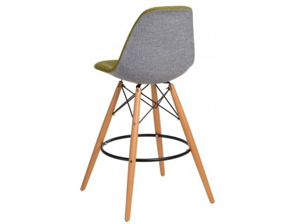 Barová židle P016V Duo zelená šedá
