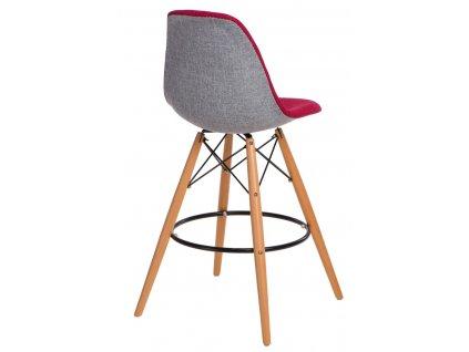 Barová židle P016V Duo červená šedá