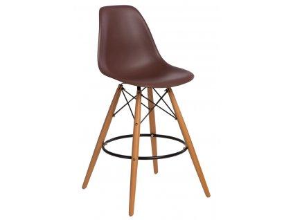 Barová židle P016V PP hnědá