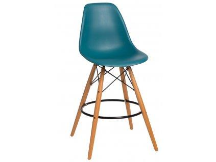 Barová židle P016V PP navy zelená