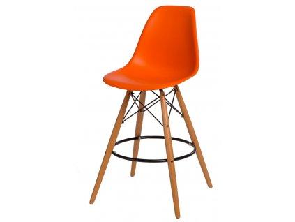 Barová židle P016V PP oranžová