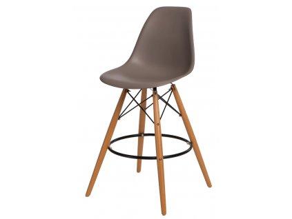 Barová židle P016V PP středně šedá