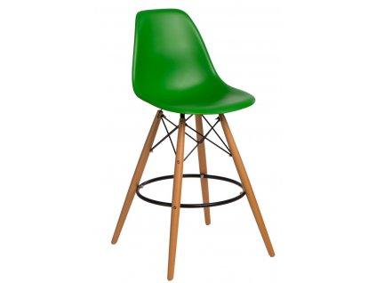 Barová židle P016V PP tmavě zelená