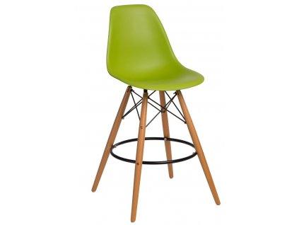 Barová židle P016V PP zelená