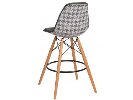 Barová židle P016V pattern šedá pepito