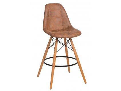 Barová židle P016V Pico hnědá