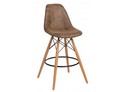 Barová židle P016V PICO hnědá tmavá