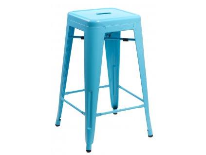 Barová židle Paris 75cm modrá insp. Tolix