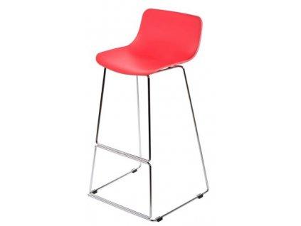 Barová židle DELI červená
