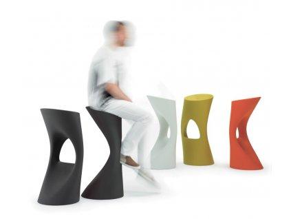 Barová židle FLOD šedá
