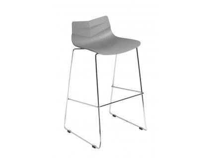 Barová židle Leaf šedá