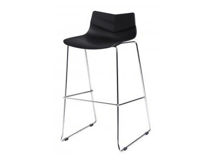 Barová židle LEAF černá