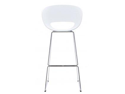 Barová židle Shell bílá
