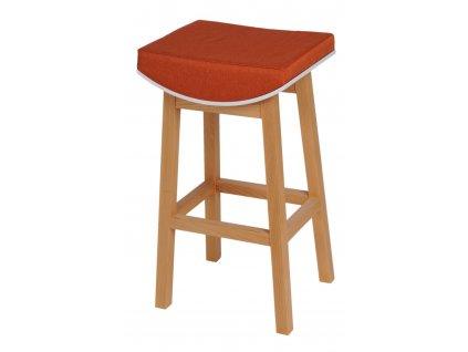 Barová židle Toni oranžová