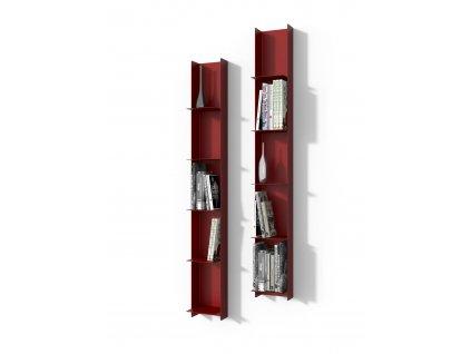 Knihovnička LIBRA 1 červená